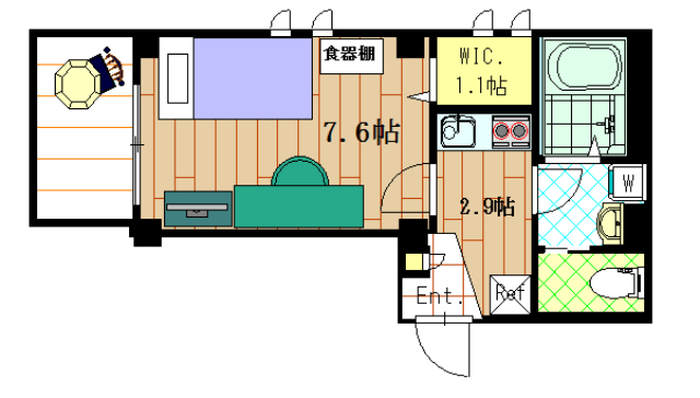 GRAND大井町の間取図